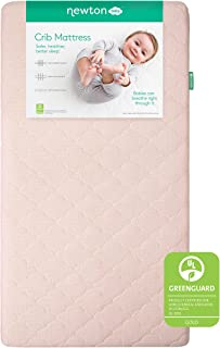 product image for Newton Baby Crib Mattress and Toddler Bed - 100% Breathable Proven to Reduce Suffocation Risk, 100% Washable, Hypoallergenic Non-Toxic, Better Than Organic, 2-Stage, Removable Cover Included- Pink