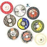 "Tools-4-All 4"" Combo of 9 Pieces :- Grinding Wheels/Discs Suitable for Cutting Wood/Metal/Brick/Marble, Grinding, Polishing and Buffing."