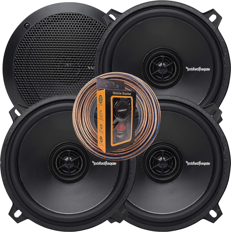 """Rockford Fosgate Punch P152 80W 5.25/"""" 2-Way 4-Ohm Full Range Coaxial Speakers"""