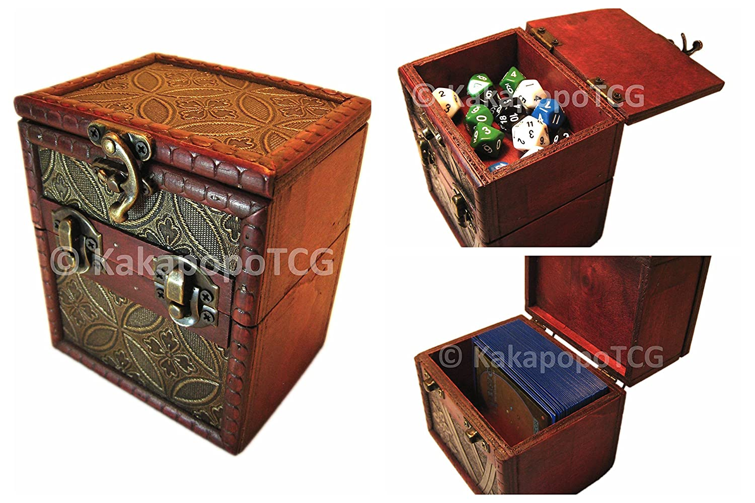 M01c Wood Single Deck And Counter Box For Deck Protector Storage Trading Cards Tcg Ultra Pro Sleeve Mtg Magic The Gathering Pokemon Ygo Yugioh