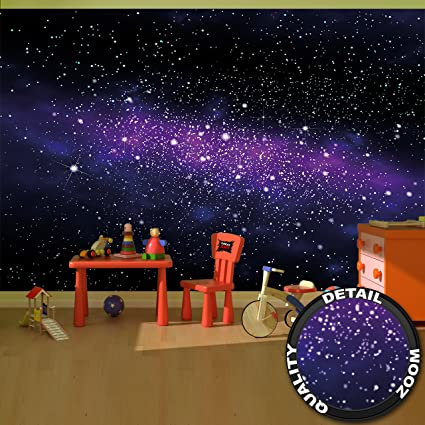 Wallpaper Stars – wall picture decoration children room outer space sky galaxy universe cosmos starry sky