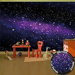 Fototapete Sterne - Wandbild Dekoration Kinderzimmer Weltraum Stars Galaxy Sky Sternenhimmel Universum Space All Kosmos Weltall   Foto-Tapete Wandtapete Fotoposter Wanddeko by GREAT ART (336 x 238 cm)
