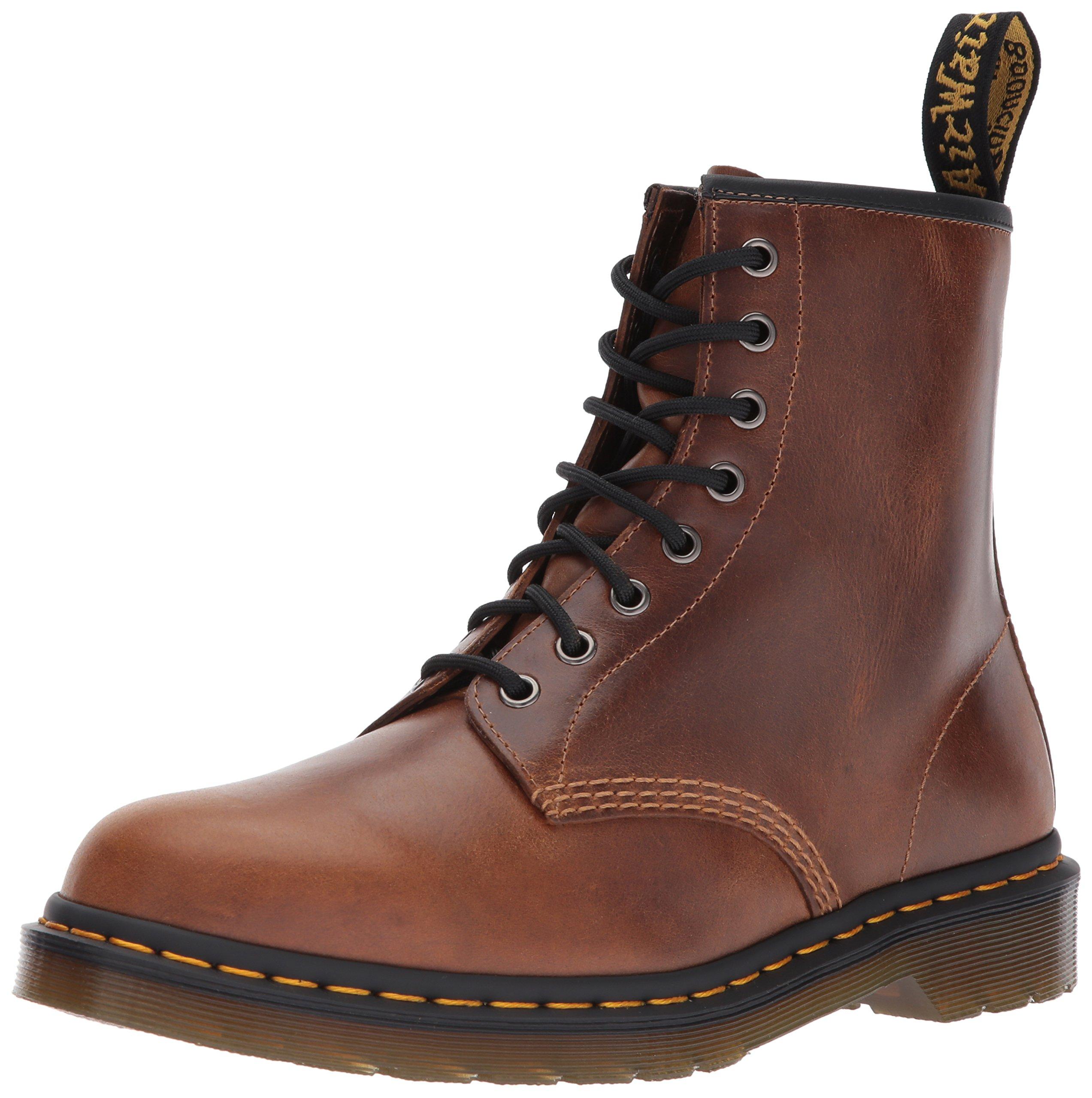 Dr. Martens Men's 1460 Combat Boot, Butterscotch, 9 Medium UK (10 US) by Dr. Martens