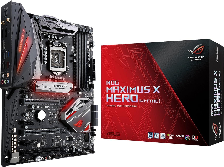 ASUS ROG Maximus X Hero LGA1151 DDR4 DP HDMI M.2 Z370 ATX Motherboard with onboard 802.11ac WiFi Gigabit LAN and USB 3.1 for 8th Generation Intel Core Processors Wi-Fi AC