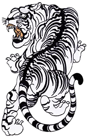 Tigre De Siam Patch Broderie Application Tatouage Yantra Irezumi Art