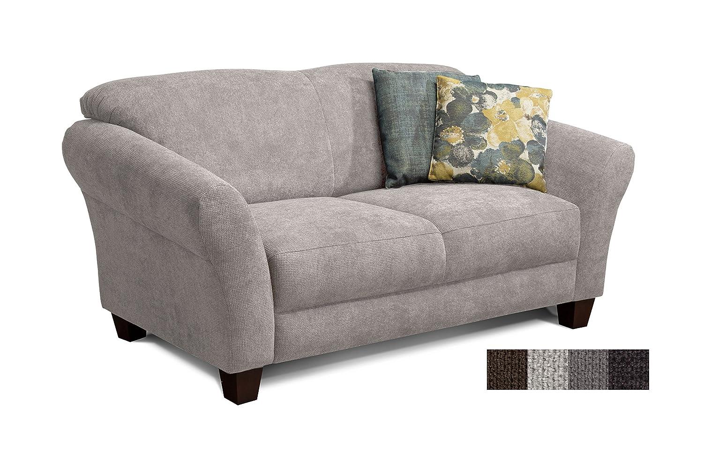CAVADORE 2 Sitzer Gootlaand/Großes Sofa Im Landhausstil/Mit Federkern / 163  X 89 X 84 / Hellgrau: Amazon.de: Küche U0026 Haushalt