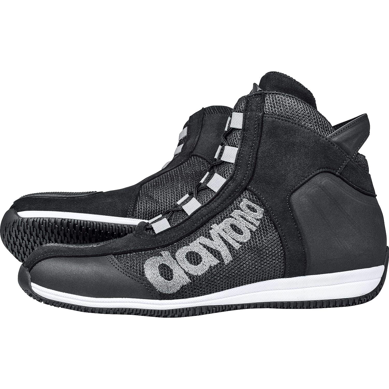 Ganzj/ährig Leder Herren Daytona Boots Motorradschuhe Motorradstiefel kurz AC4 WD schwarz//wei/ß 46 Sportler