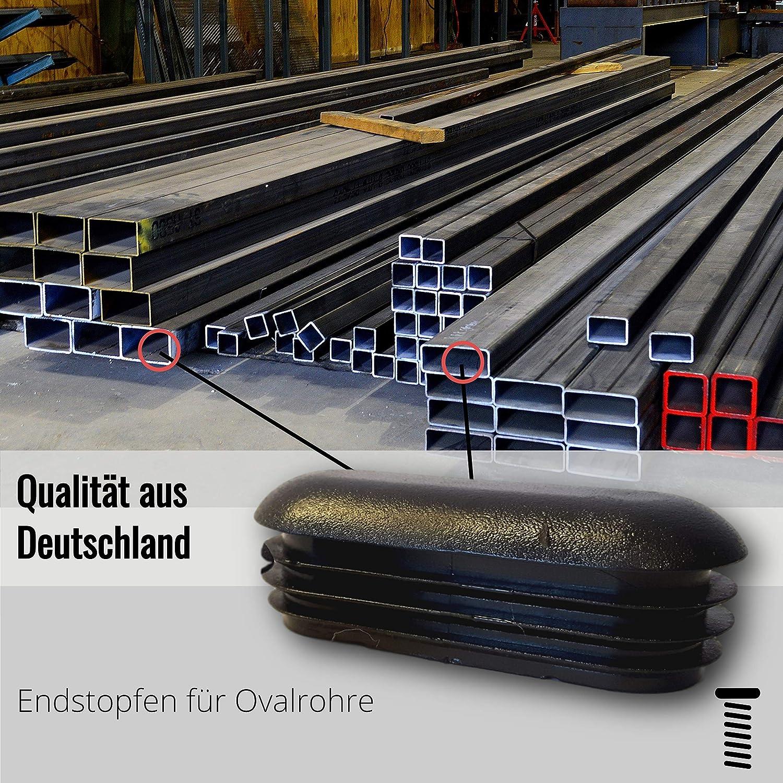 4 Bouchons d/écoratifs//bouchons//bouchons visibles//bouchons dextr/émit/é pour tubes ovales dune /épaisseur de paroi de 1,5-2 mm