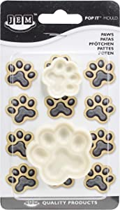 JEM Pop It − Paws Shaped Mold for Cake Decorating, Small & Large Sizes, Set of 2