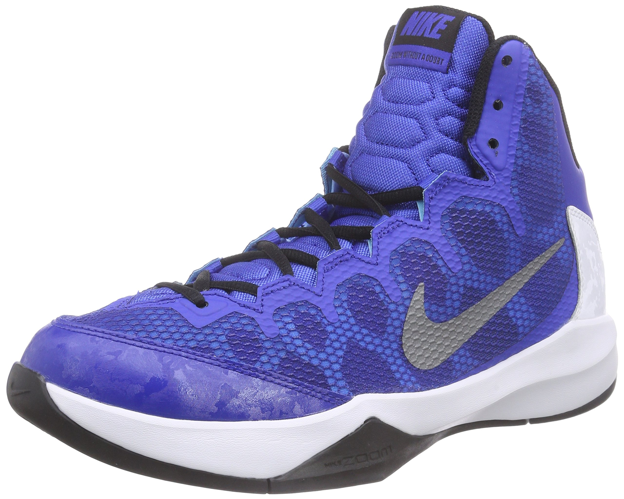 b42c6ba81603d Galleon - New Nike Men s Zoom Without A Doubt Basketball Shoe Game Royal  Black 9