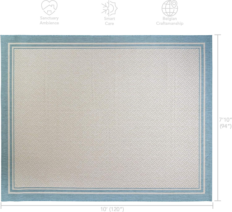 Amazon Com Gertmenian 21570 Outdoor Rug Freedom Collection Bordered Theme Smart Care Deck Patio Carpet 8x10 Large Border Aqua Blue Furniture Decor