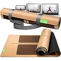 BACKLAxx® Kurk yogamat met natuurlijk rubber - duurzame yogamat antislip vrij van schadelijke stoffen met anti-slip…
