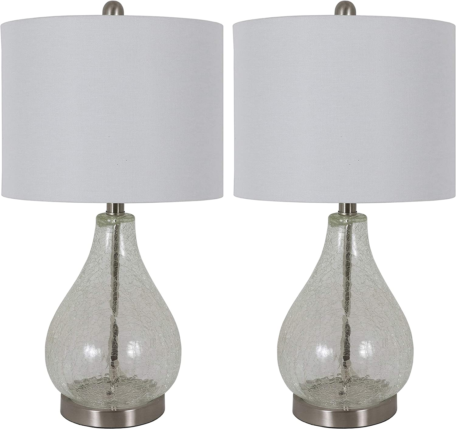 Decor Therapy MP1096 Table Lamp Set of 2, Clear