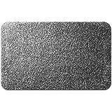 casa pura® Eingangsmatte aus 100% Baumwolle   hohe Schmutz- und Feuchtigkeitsaufnahme   grau - meliert   60x100cm