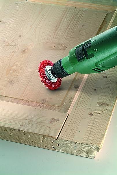Bosch 2609256537 Brosse circulaire pour perceuse Fils nylon et abrasif corindon 6 x 100 mm