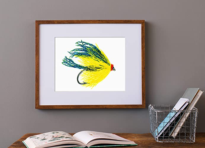 watercolor trout fly fly fishing gifts fishing lure art fishing gifts for him