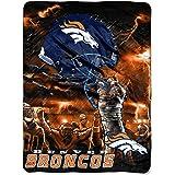 NFL Denver Broncos 60-Inch-by-80-Inch Plush Rachel Blanket, Sky Helmet Design