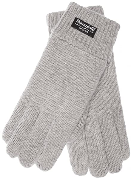 warm 100/% wool winter EEM Mens knitted glove LASSE with Thinsulate thermal lining