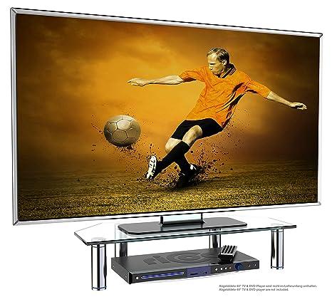 Ricoo Meuble Tv Design Fs6026 C Support Sur Pied En Verre Moniteur