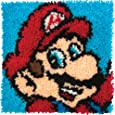 Dimensions Arts and Crafts Super Mario Latch Hook Kit, 12''L x 12''H
