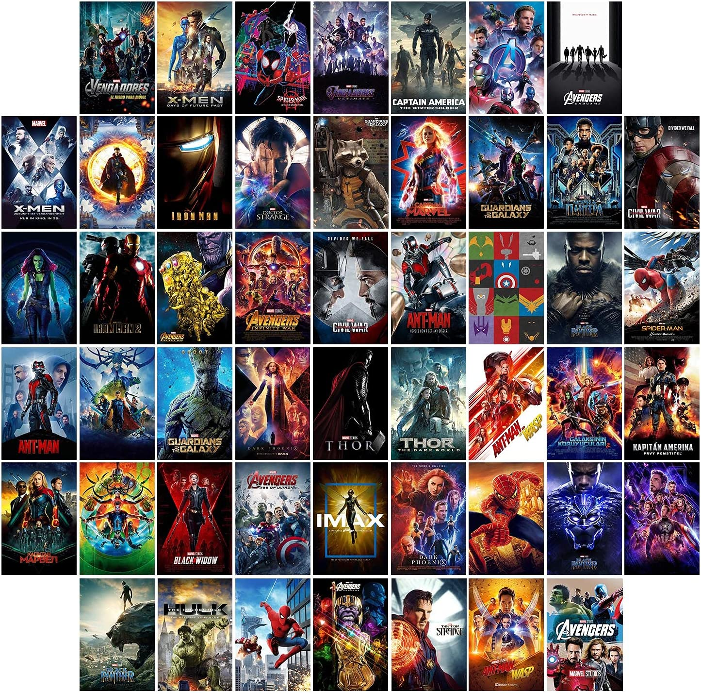 Mar_vel A_vengers Wall Collage Kit Pictures Movie Aesthetic Photo Collection Collage Wall Art Poster Decor for Boys Girls