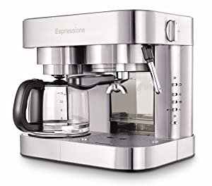 Espressione EM-1040 Stainless Steel Machine Espresso and Coffee Maker 1.5 L