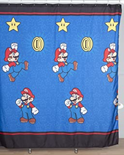 Nintendo Super Mario Simply The Best Microfiber Shower Curtain