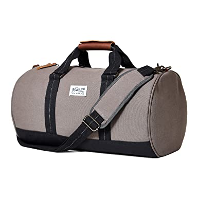 Amazon the mastline co hudson barrel duffel travel bag the mastline co hudson barrel duffel travel bag canvas leather dark malvernweather