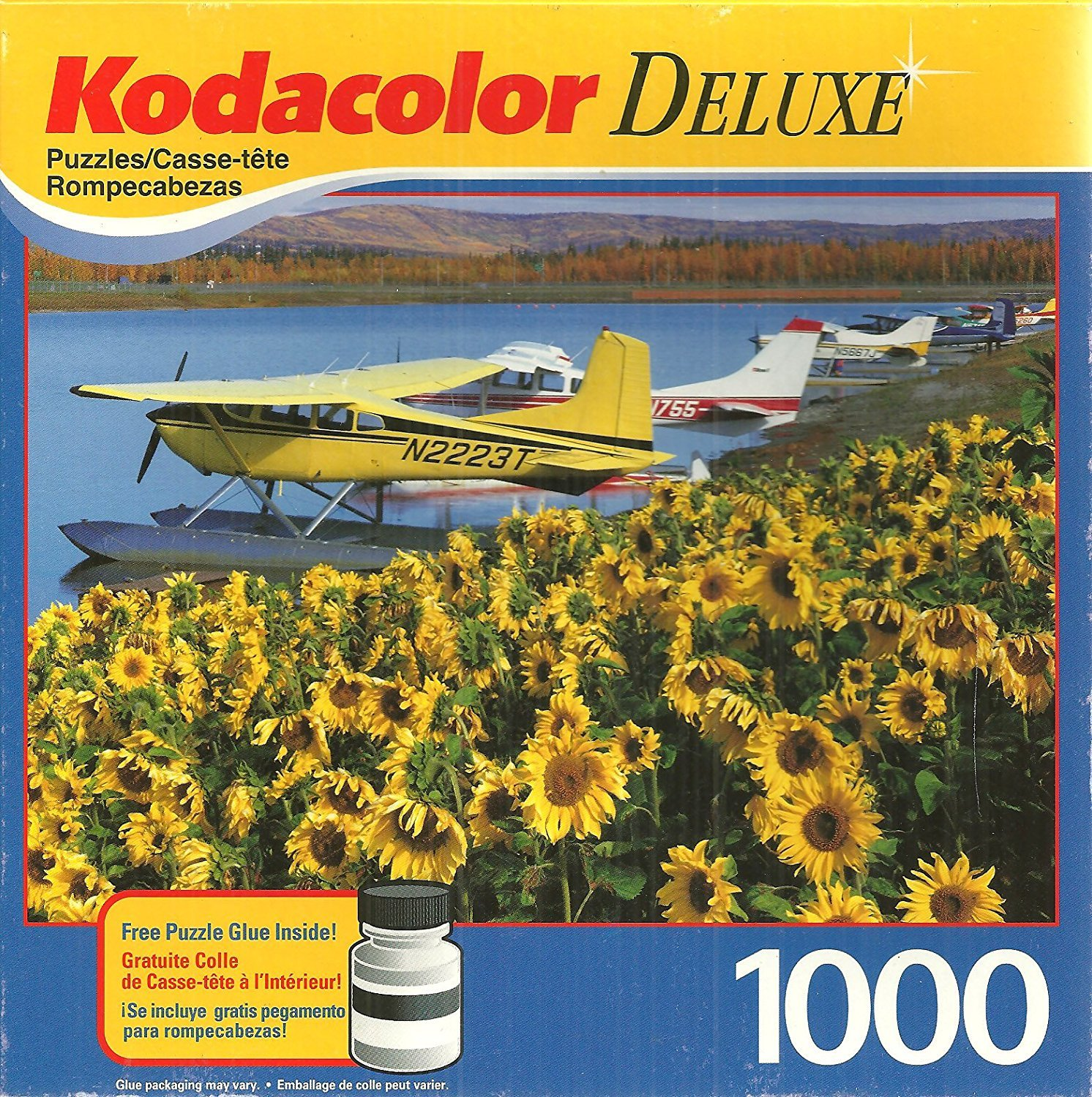 Kodacolor Deluxe Floatplanes At Fairbanks AK 1000 Piece Jigsaw Puzzle with Glue Mega Brands
