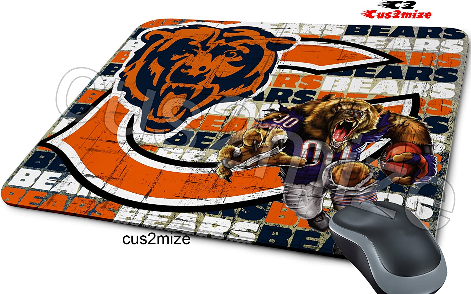Chicago Bears Mouse Pad Chicago Bears Mousepad Sold By Cus2mize 0723736675129