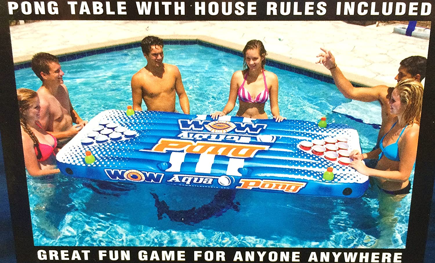 Wow Watersports Aqua PongPool Lounge Beer Pong Inflatable with Social Floating, The Air Pong Table - The Portable, Inflatable Beer Pong Table by WOW [並行輸入品]   B00RY47E9K