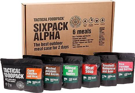 Pack de 6 Alimentos tácticos Alpha de Alta energía para Comida ...