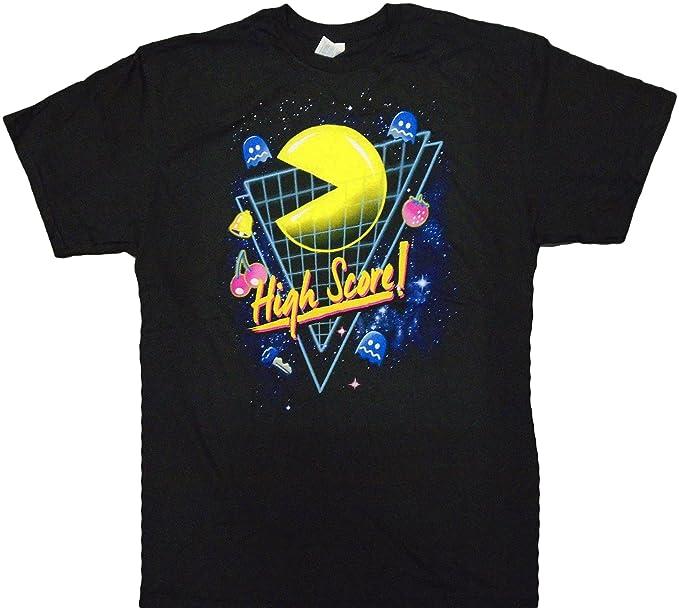 Men's Pac-Man 80s Grid High Score T-shirt, Official, Pre-Shrunk, S to XXXL