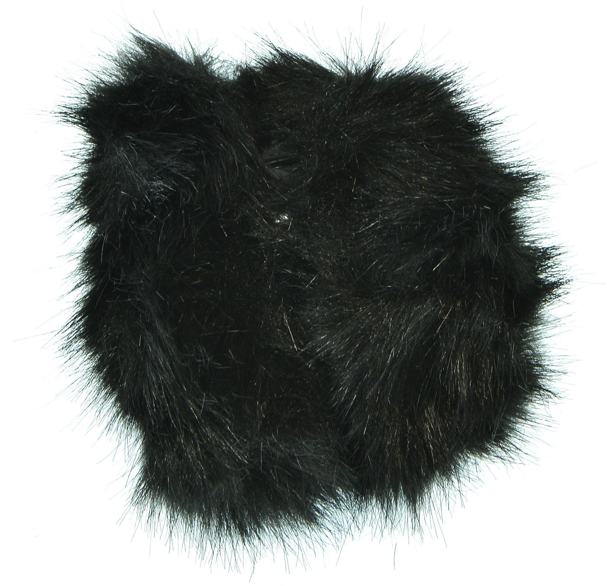 Hand By Hand Aprileo Unisex Twist Adjuster Earmuff Ear Warmer Faux Fur Soft Fuzzy [Black.](One Size)