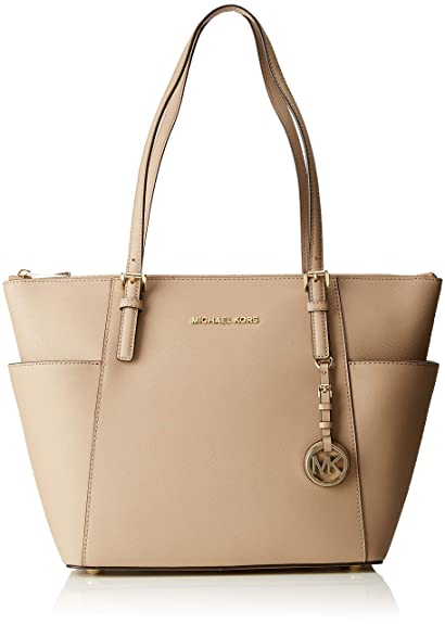 1269ace734b3 Michael Kors Womens Jet Set Item Tote Grey (Truffle): Amazon.co.uk ...
