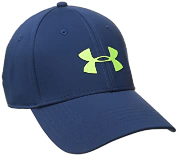 2aceb259c14 Under Armour Men s Headline Stretch Fit Cap Headwear-Blackout Navy ...