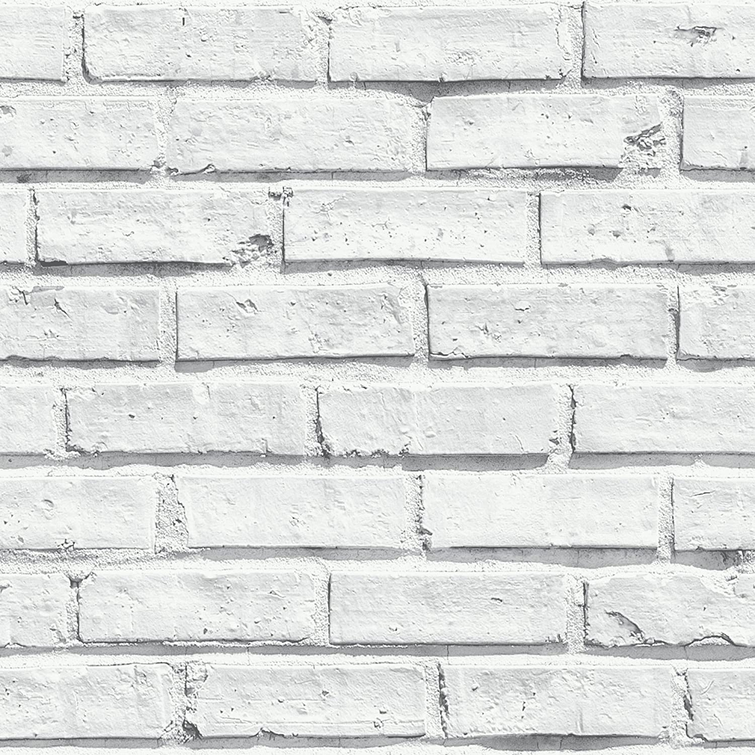 Arthouse White Wallpaper, Brick, 53 Cm X 1005 M Amazoncouk