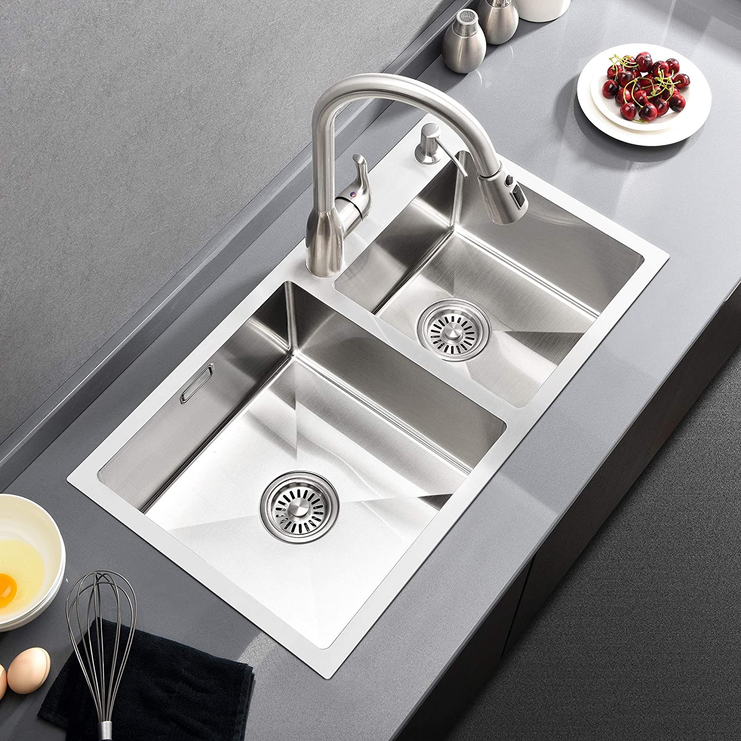 Comelln Best Commercial 30Inch Double Bowl Kitchen Sink, 304 ...