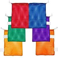 Champion Sports Mesh Sports Equipment Bag - Multipurpose Nylon Drawstring Sack with...