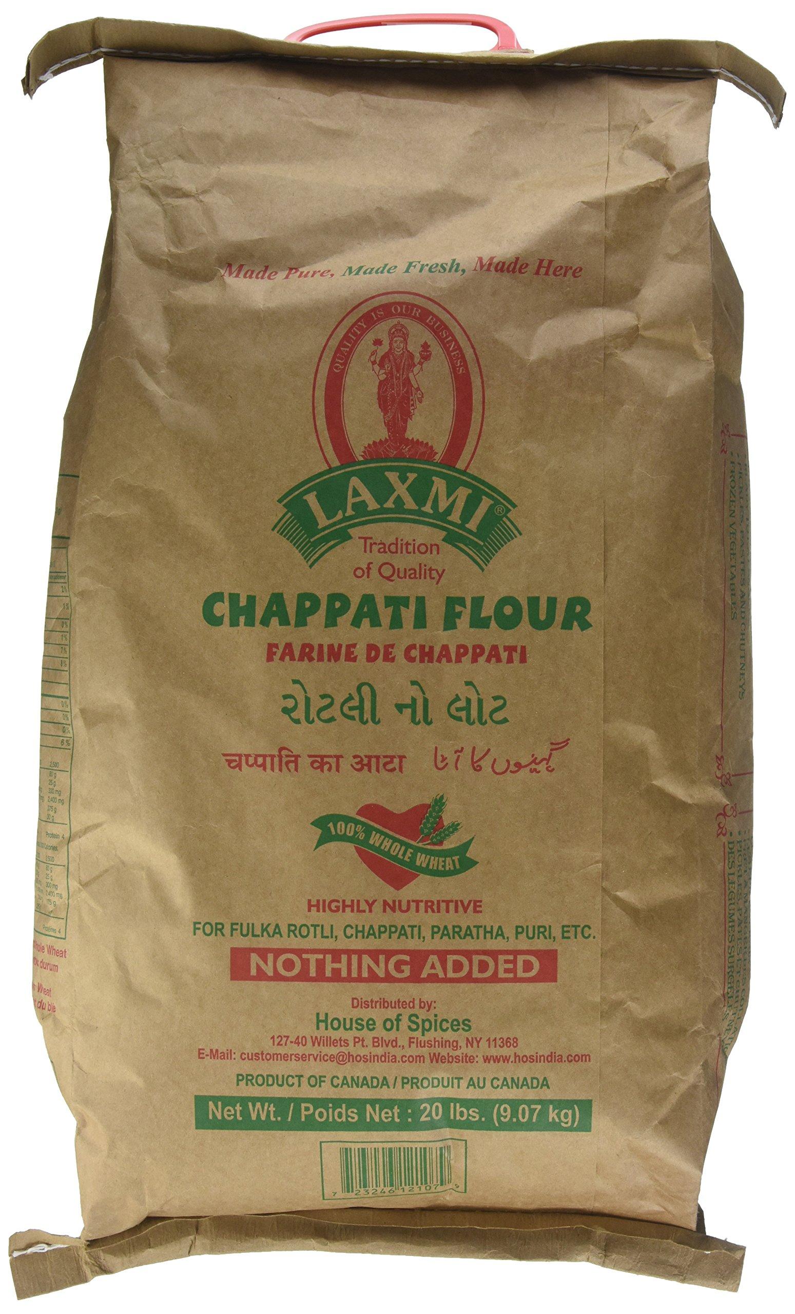 Laxmi Brand All-Natural Chappati Flour, 20lb