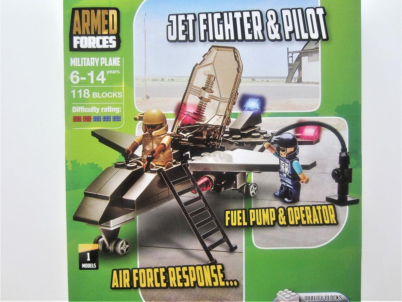 Armed Forces Block Tech Military Plane Set 118 Blocks