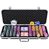 Pearl River Poker Chips Set - 14g 500 Piece Numbered Poker Set & Accessories