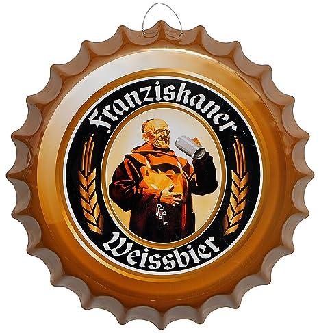 Chapas cerveza cerveza Blanco redondo Cartel de chapa 41 cm ...