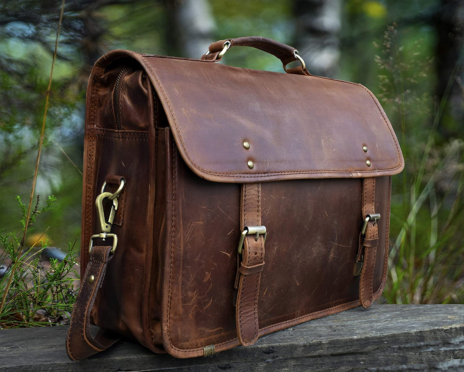 full grain leather bags india