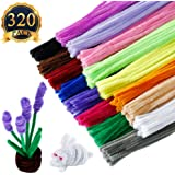 SUBANG 320pcs Pipe Cleaners Chenille Stem 6 mm x 12 Inch,16 Colors Available