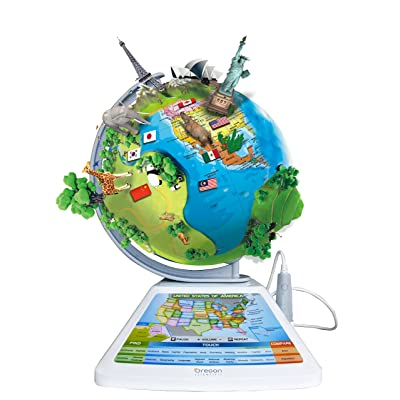 Oregon Scientific SG268R Smart Globe Adventure AR Educational World Geography Kids - Learning Toy: Toys & Games