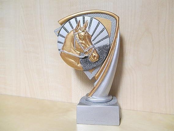 Trofeo - Resin - Figura - Jinete - Talla 14,5 mm - plata - oro ...