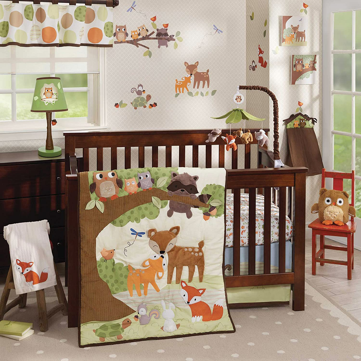 Baby cribs amazon - Woodland Tales 4 Piece Baby Crib Bedding Set By Lambs Ivy