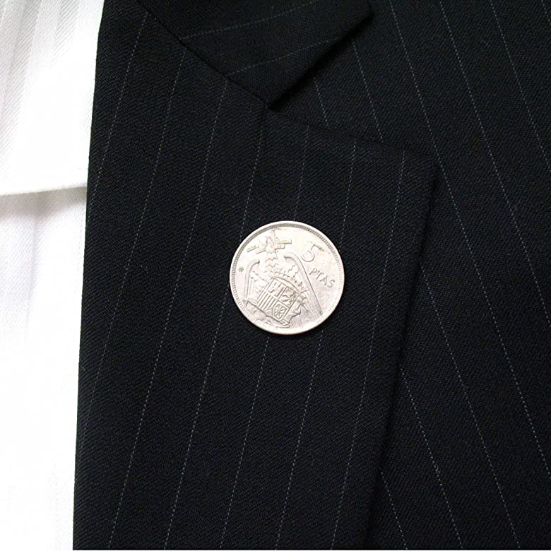 España moneda Tie Tack Pin de solapa traje de Barcelona Madrid ...