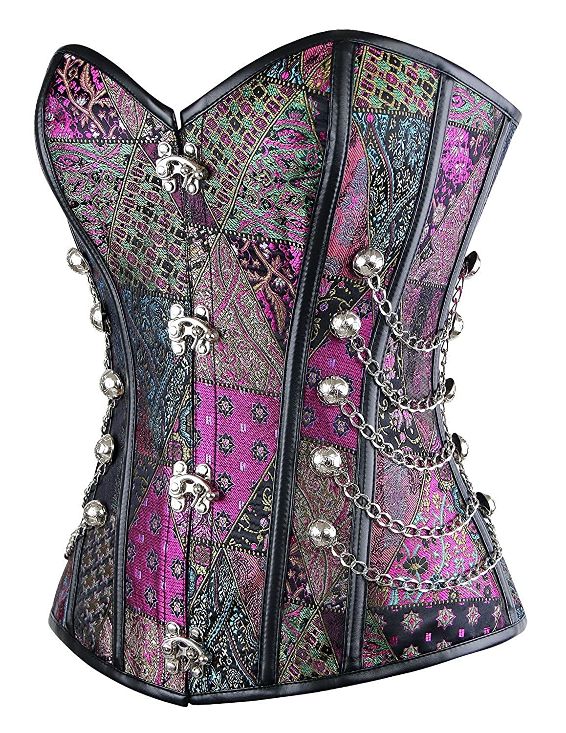 TX-Originality Corset Steampunk Gothic Steel Bonded Bustiers Corset